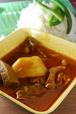 Curry Beef Rice Stock Photography