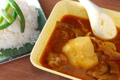 Curry beaf rice Stock Photos