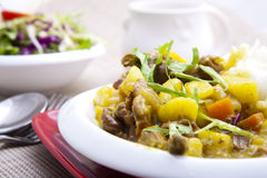 Curry beef and vegetable Royalty Free Stock Photography