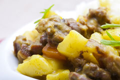 Curry beef and vegetable Royalty Free Stock Image