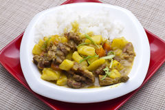 Curry beef and vegetable Stock Photo