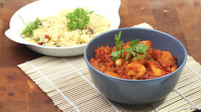 Curry of butternut with couscous Stock Photo