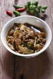Curry caldo e piccante della carne del cinghiale Fotografia Stock