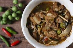 Curry caliente y picante de la carne del jabalí Fotografía de archivo