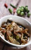 Curry caliente y picante de la carne del jabalí Foto de archivo