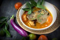 Curry capo del pesce Immagini Stock