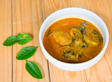 Curry Cat-Fish in white ceramic bowl Royalty Free Stock Photos