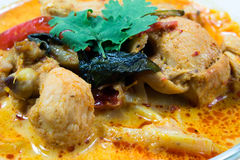 Curry chicken with bamboo shoots, thai food. Cuisine of Thailand Stock Photo