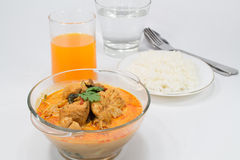 Curry chicken with bamboo shoots, thai food Royalty Free Stock Images