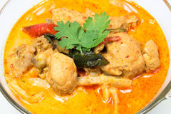 Curry chicken with bamboo shoots, thai food. Dishes of Thailand Stock Photo