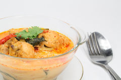 Curry chicken with bamboo shoots, thai food Stock Photo