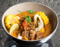 Curry chicken in a bowl Stock Photography