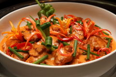 Curry chicken cooked with coconut milk Royalty Free Stock Image