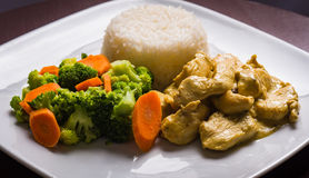 Curry Chicken Dinner Royalty Free Stock Photography