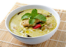 Curry Chicken Intense soup Royalty Free Stock Images
