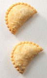 Curry chicken puff. A close-up shot of two curry chicken puff Royalty Free Stock Photo