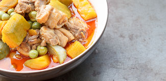 Curry chicken with pumpkin Royalty Free Stock Image