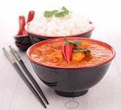 Curry chicken and rice Royalty Free Stock Image