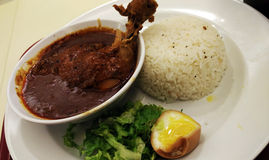 Curry Chicken Rice Asian Food Stock Photography