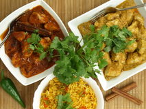 Curry chicken and rice Stock Image