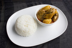 Curry Chicken Rice Royalty Free Stock Photography
