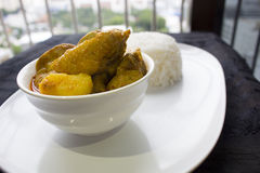 Curry Chicken Rice Royalty Free Stock Photo