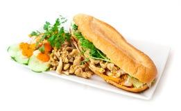 Curry chicken sandwich Stock Photo