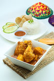 Curry Chicken. With steam rice Stock Photography