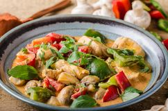 Curry chicken vegetable fresh food Royalty Free Stock Photography