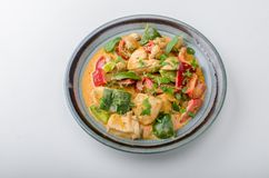 Curry chicken vegetable fresh food Stock Photography