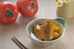 Curry Chicken wings Royalty Free Stock Photography