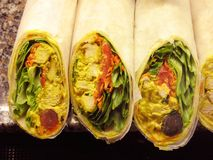 Curry Chicken Wraps Stock Images