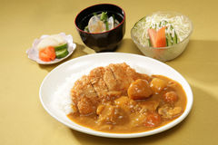 Curry con arroz imagen de archivo libre de regalías