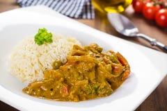 Curry con le verdure Fotografia Stock Libera da Diritti