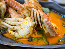 Curry crab with coconut milk Royalty Free Stock Images