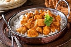 Curry cremoso del pollo del burro Fotografia Stock Libera da Diritti