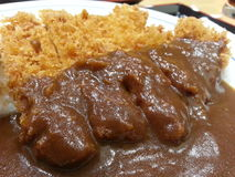 Curry Curry. Japanese food A delicious and spicy stock photo