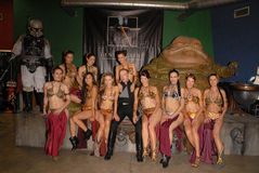Curry de Adrianne, Alicia Arden, Jabba, Paula LaBaredas, Shae Fotos de archivo
