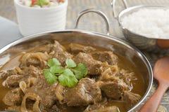 Curry de cordero con las cebollas Imagen de archivo