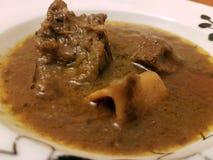 Curry de cordero en la placa blanca fotos de archivo