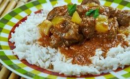 Curry de cordero indio foto de archivo libre de regalías