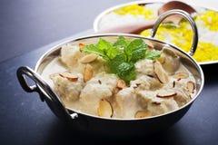 Curry de Korma del pollo Imagen de archivo