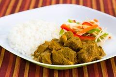 Curry de la cabra con el arroz - Caribbe Imagen de archivo libre de regalías