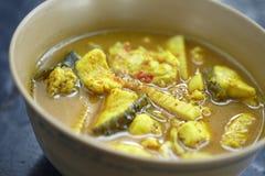 Curry de la comida de Yellow Sea imágenes de archivo libres de regalías