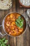 Curry de la gamba Fotografía de archivo libre de regalías