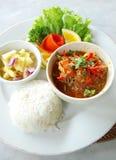 Curry de la gamba del alimento étnico del Balinese imagenes de archivo