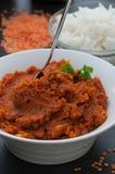 Curry de la lenteja roja Foto de archivo libre de regalías