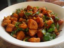 Curry de la patata imagenes de archivo