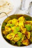Curry de la patata de la coliflor de Aloo Ghobi Imagen de archivo
