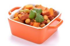Curry de la patata dulce del garbanzo Imagen de archivo